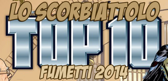 top 10 logo alan moore comics fumetti fumetto lo scorbiattolo 2014 classifica
