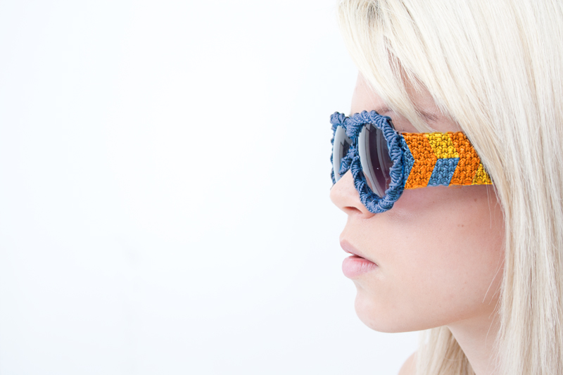 color Macrame Sunglasses by Claude Bossett