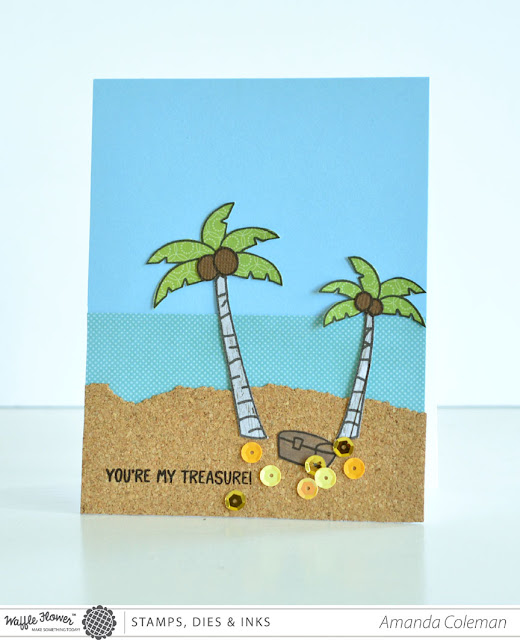 You're My Treasure Palm Tree Beach card