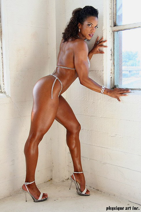 Black female muscle woman