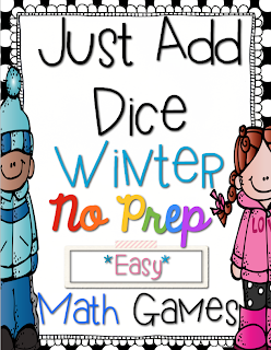http://www.teacherspayteachers.com/Product/Just-Add-Dice-Winter-Math-Games-Print-and-Go-1044794