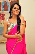Anasuya dazzling saree photos-thumbnail-11