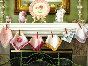 HANKIE GARLAND - Using cherished hankie's!