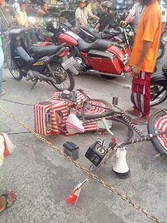 Moge Tabrak Sepeda Onthel di Kawasan Wisata Lombok
