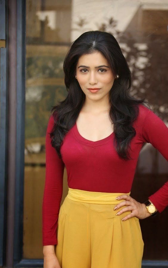 Actress Gazal Somaiah Latest Cute Hot Exclusive Beautiful Red Top-Yellow Skirt Dress Spicy Photoshoot Gallery