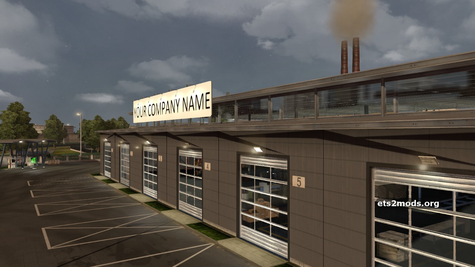 New large garage with editable company name ets2 mods for New garage
