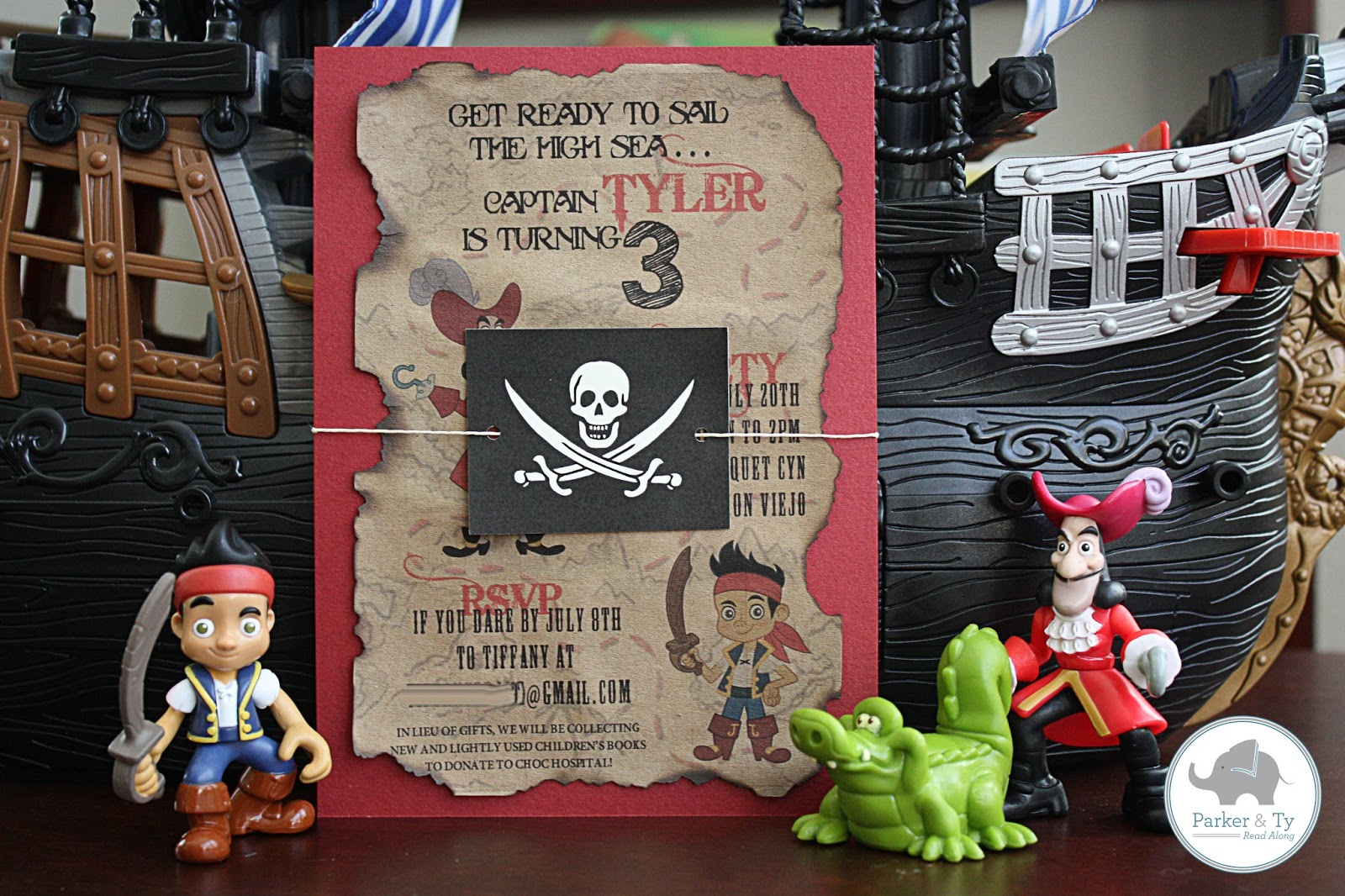 Spotted Ink: Jake and the Neverland Pirates Party Invitations