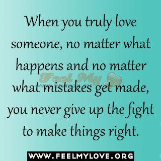 Mistakes get made you never give up the fight to make things right