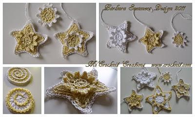 free pattern crochet star motifs