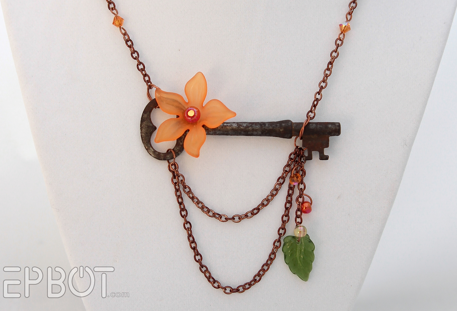 Epbot my diy vintage skeleton key necklaces aloadofball Image collections