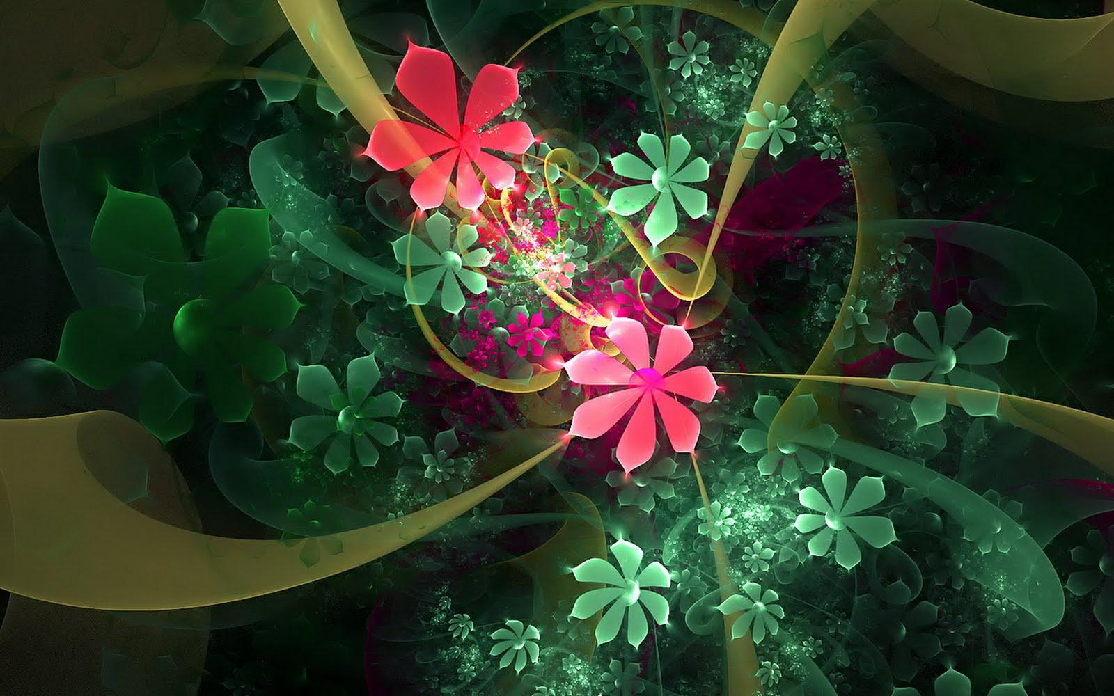 Imagem de Fundo - Desenho de flores em várias cores