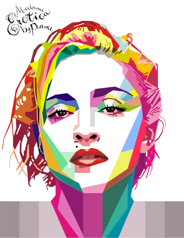 Рисунок портрет поп арт как сделать