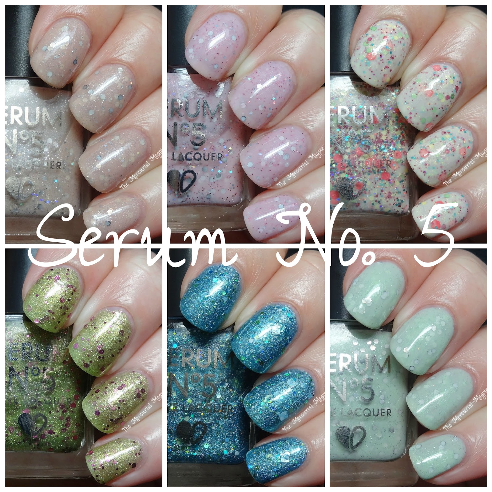 Serum No. 5 Glitters & Crellies Swatches & Review