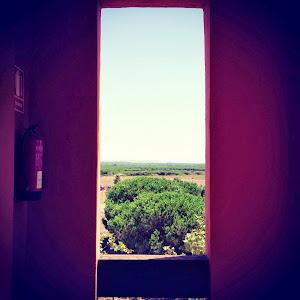 Mira a través de la ventana