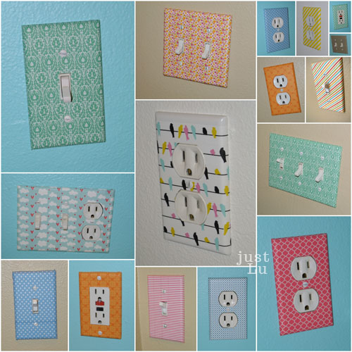 cute washi tape switchplates collection