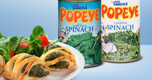Popeyes legendary love of spinach was actually due to a