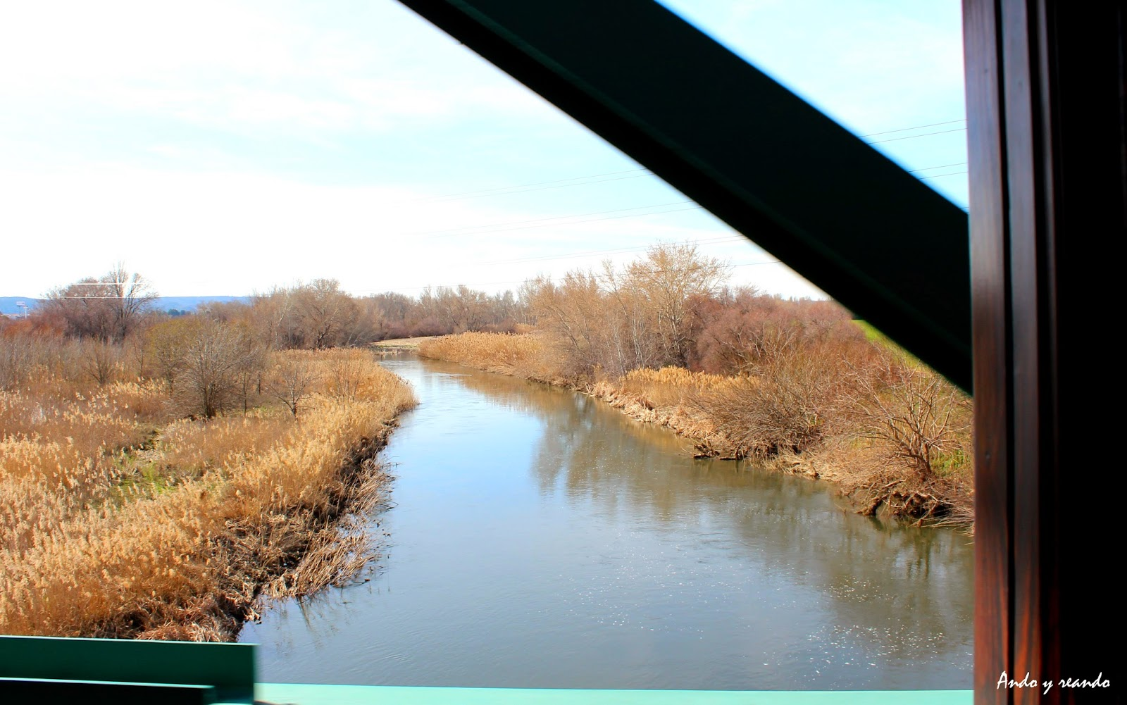 Río Tajuña desde el tren de Arganda