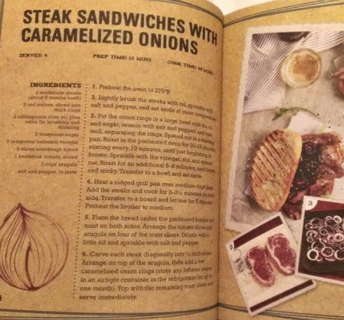 eat your greens book carmelized onion steak sandwiches