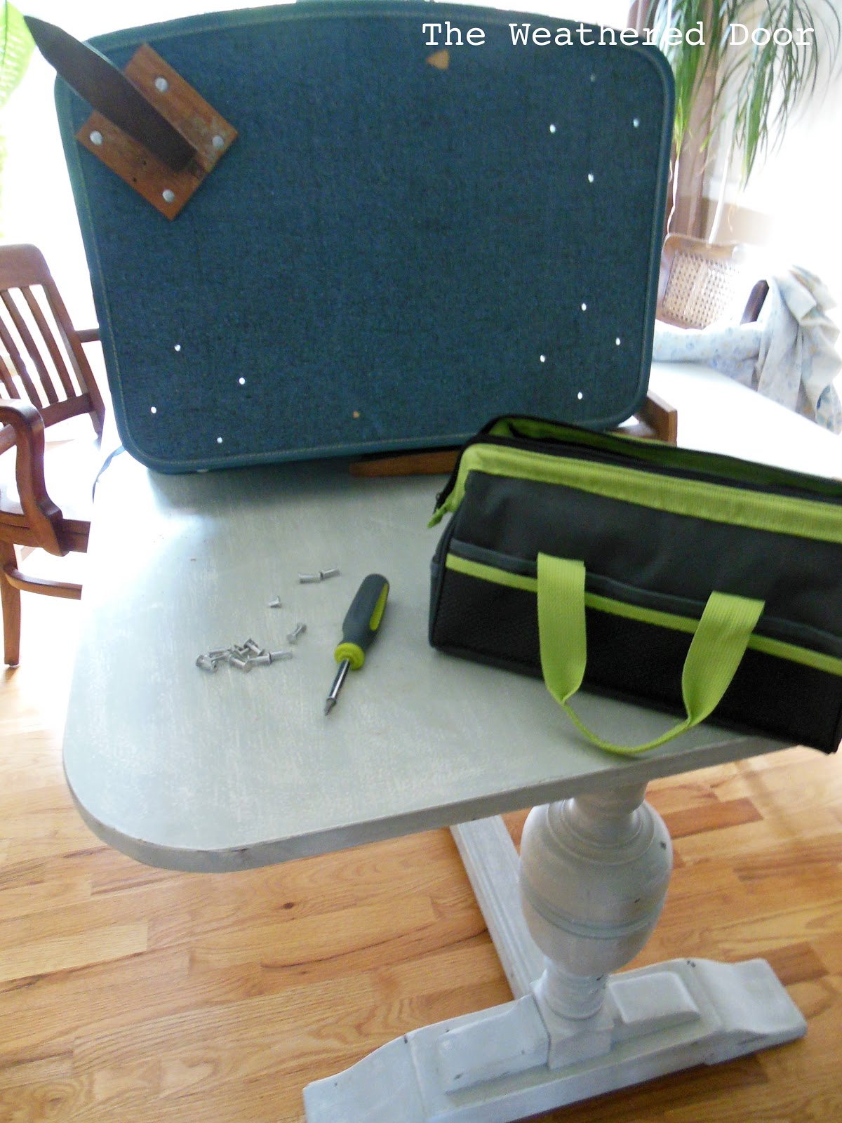 DIY Suitcase Side Table