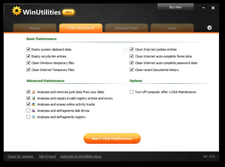 โหลโปรแกรมฟรี, ดาวน์โหลดโปรแกรมคอมพิวเตอร์ฟรี,WinUtilities Professional Edition 11.16