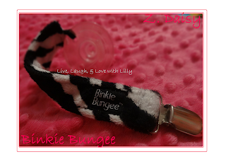 binkie bungee with soothie pacifier clip