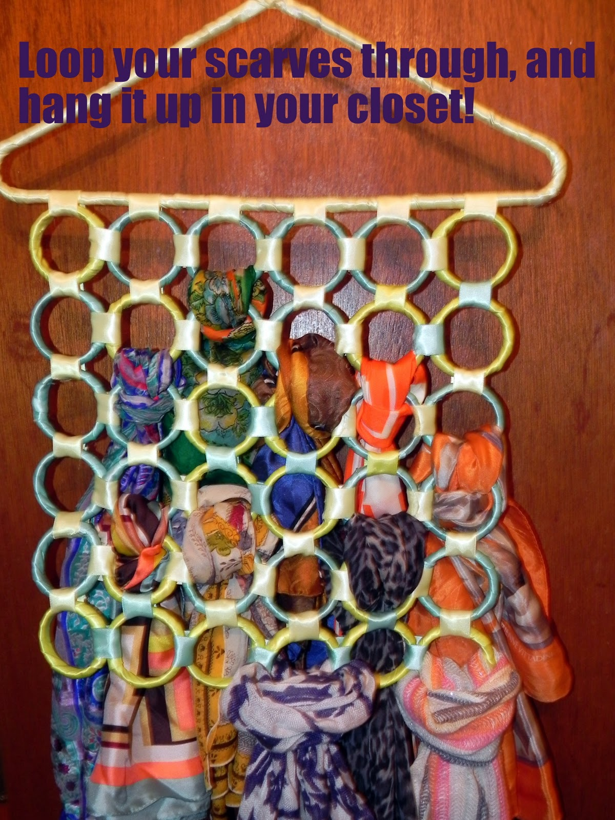 Smart n Snazzy: DIY ~ Compact Scarf Organizer and Hanger