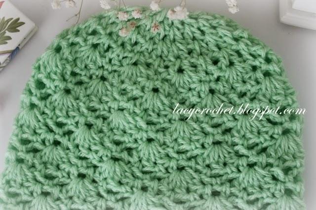 Advanced Crochet Patterns : ... : Crochet Baby Hat Size 6 - 12 months, Advanced Level Free Pattern
