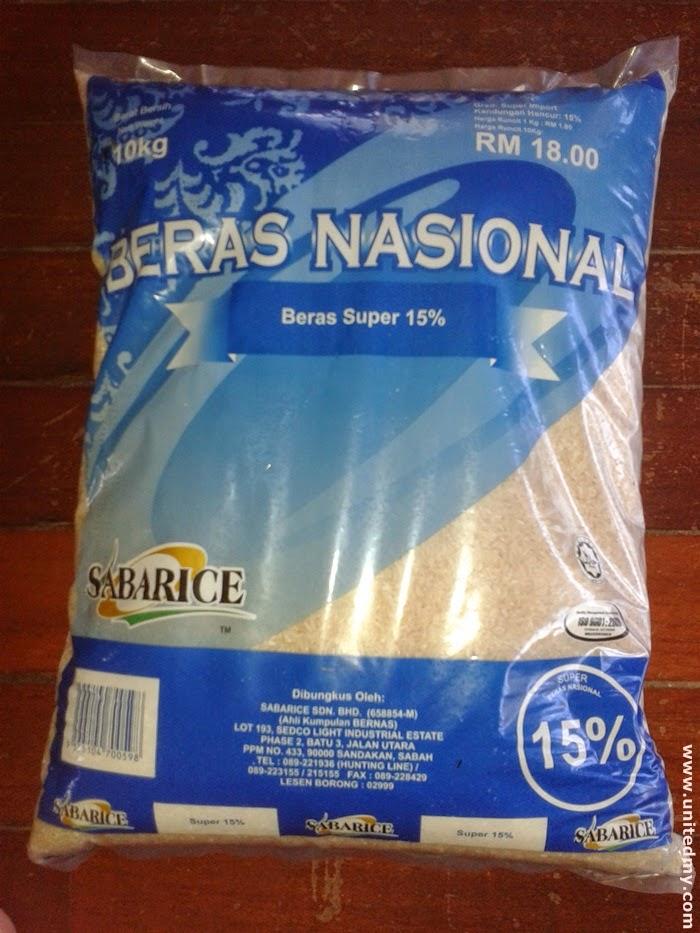 Beras Nasional-Bernas-rice-nasi-sabarice-Sabah rice