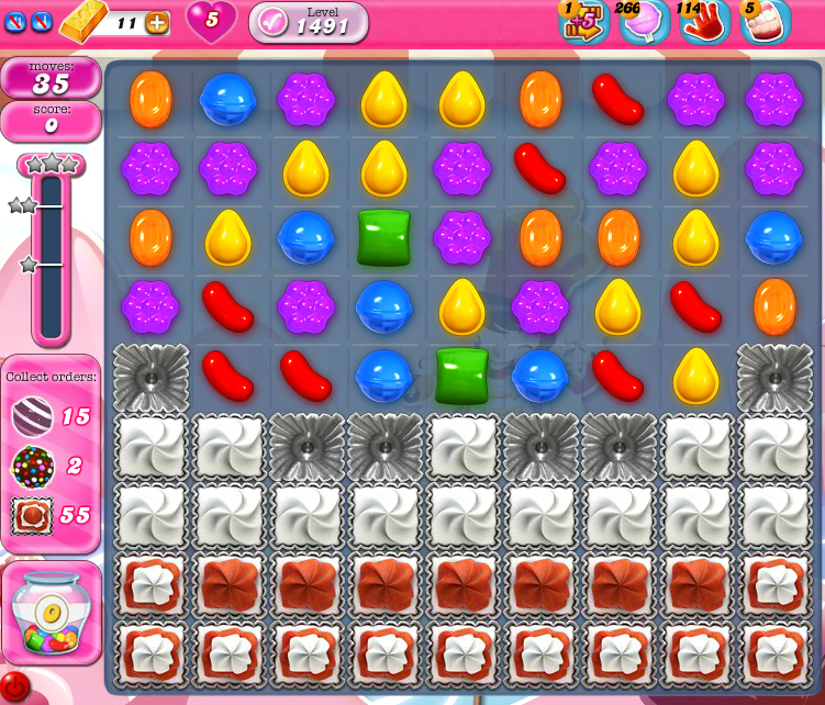 Candy Crush Saga 1491