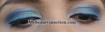 EOTD: Blue smoky eye makeup with Sleek Candy Collection shadows
