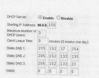 DHCP Server Seting