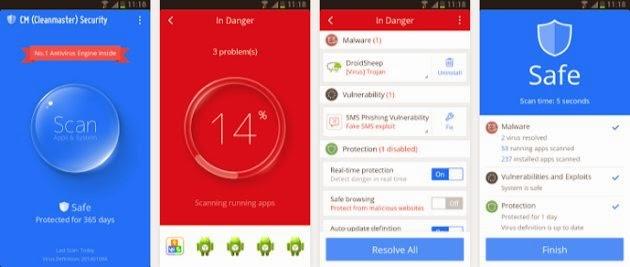 CM Security – Antivirus FREE Android