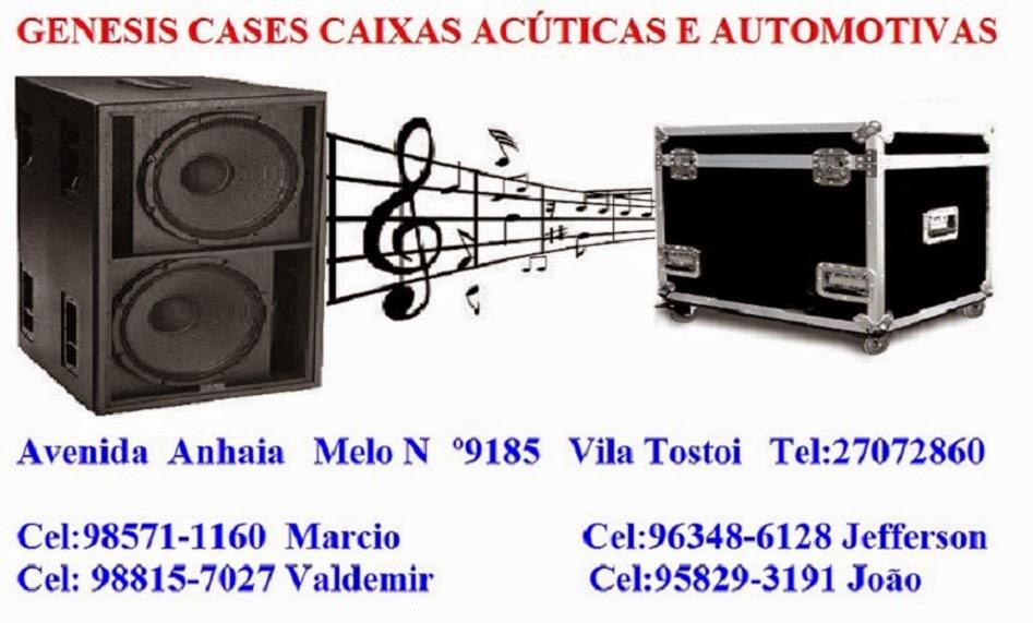 GENESIS CASES CAIXAS ACÚSTICAS E SELADAS