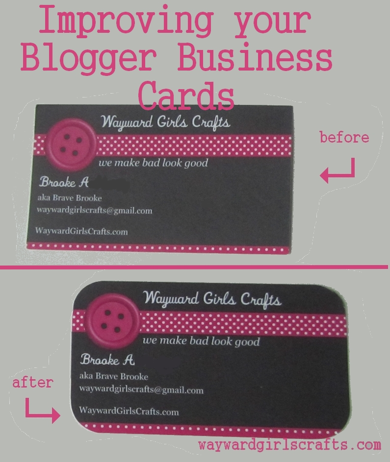Wayward Girls\' Crafts: Improving Your Plain Business Cards