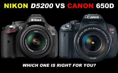 Nikon D5200 VS Canon 650D, Canon VS Nikon, Canon EOS 650D, Nikon D5200