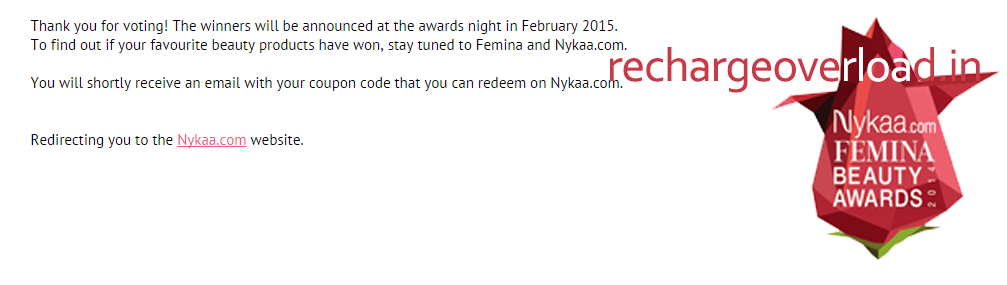 femina survey confirmation page