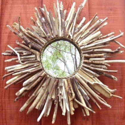 handmade sunburst mirror