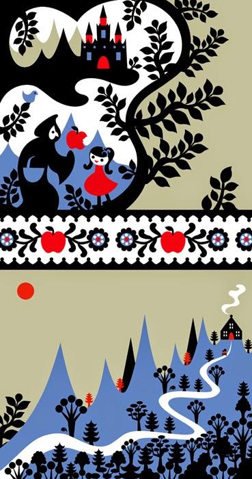Baśnie na warsztacie, Ilustracje, Czerwony Kapturek, Baśnie Braci Grimm, Gestalt, Mateusz Świstak, Grimm Fairy tales, Redcap, Wilk i 7 koźlątek