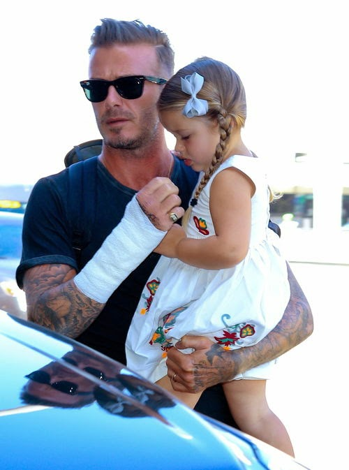 David Beckham dad relieves pain