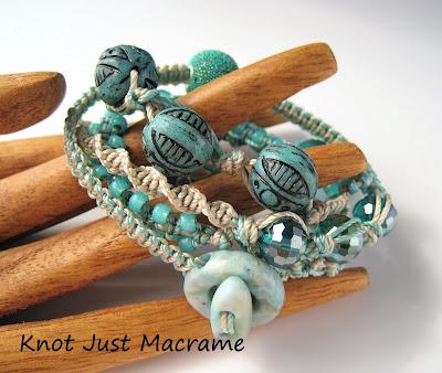 Image of Micro Macrame Wrap Bracelet from CraftArtEdu class