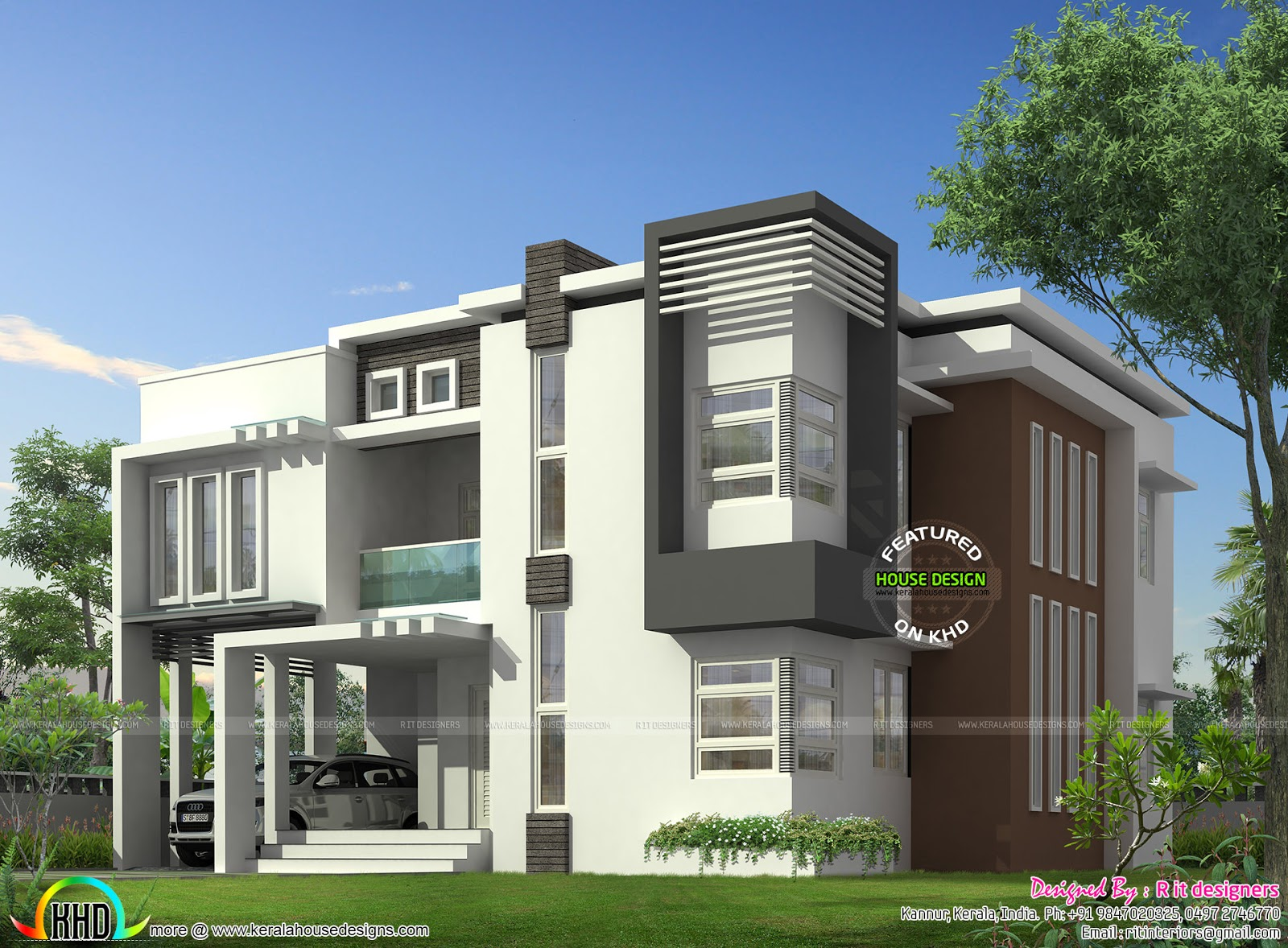 January 2016 kerala home design and floor plans for Modern looking homes