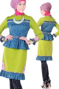 Esme Blus E-010505 - Hijau (Toko Jilbab dan Busana Muslimah Terbaru)