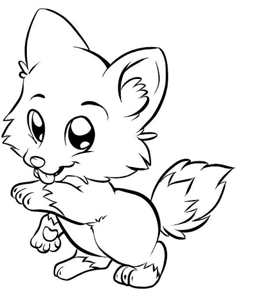 Draw Cute Baby Animals Coloring Pages
