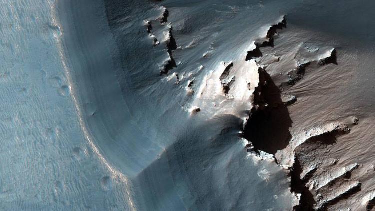 El misterioso laberinto de la noche en Marte