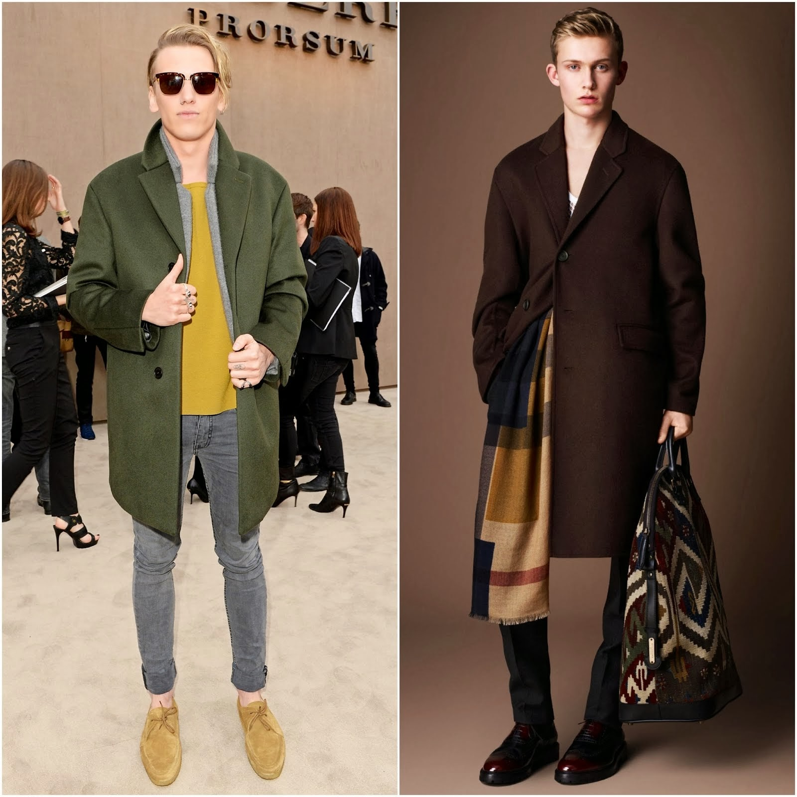 Jamie Campbell Bower and George Craig in Burberry - Burberry Prorsum Fall Winter 2014, London Collections #LCM