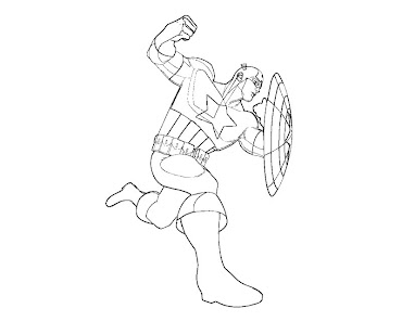 #5 Captain America Coloring Page