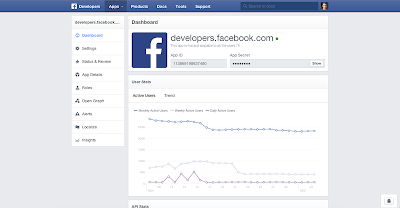 Facebook New Developers Website: App Dashboard