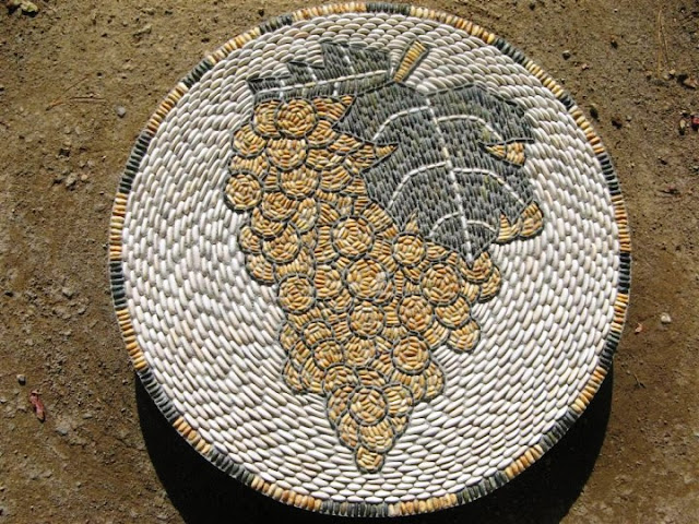 mosaic pebbles artwork by John Botica