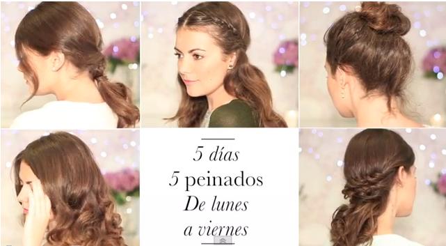 Peinados Para Toda La Semana - 5 peinados para toda la semana Actitudfem