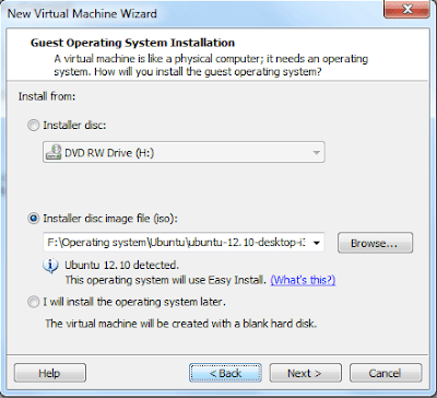 Virtual Machine Creation Options